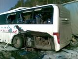 В Нижегородской области столкнулись лесовоз и автобус с пассажирами из Марий Эл